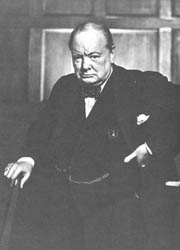 208. YOUSUF KARSH. SR WINSTON CHURCHILL, 1941.
